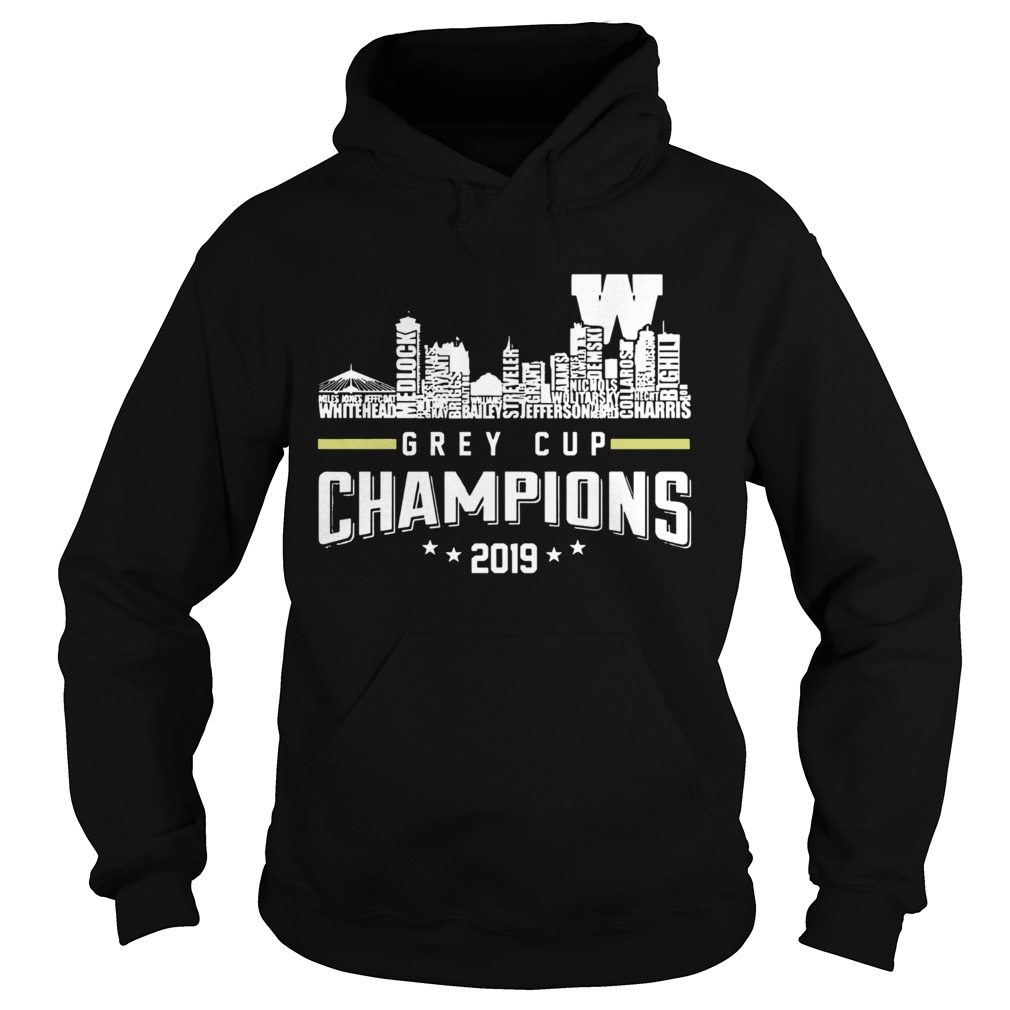 107th Grey Cup Blue Bombers Building Players Champions 2019  Hoodie