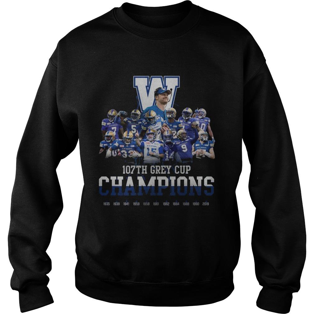 107th Grey Cup Blue Bombers Champions  Sweatshirt