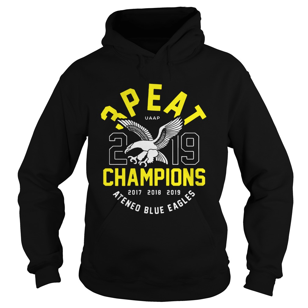 3peat UAAP 2019 Champion Ateneo Blue Eagles  Hoodie