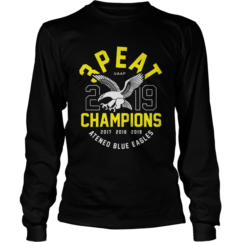3peat UAAP 2019 Champion Ateneo Blue Eagles  LongSleeve