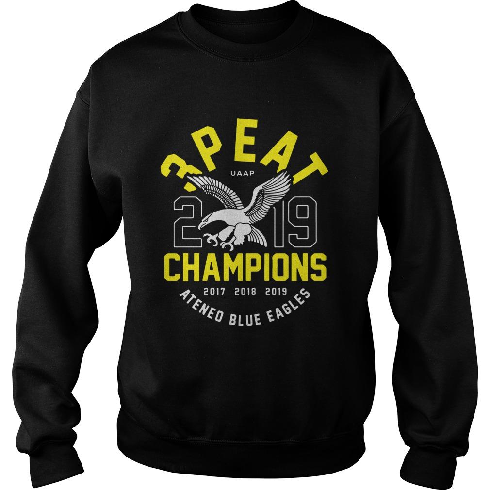 3peat UAAP 2019 Champion Ateneo Blue Eagles  Sweatshirt