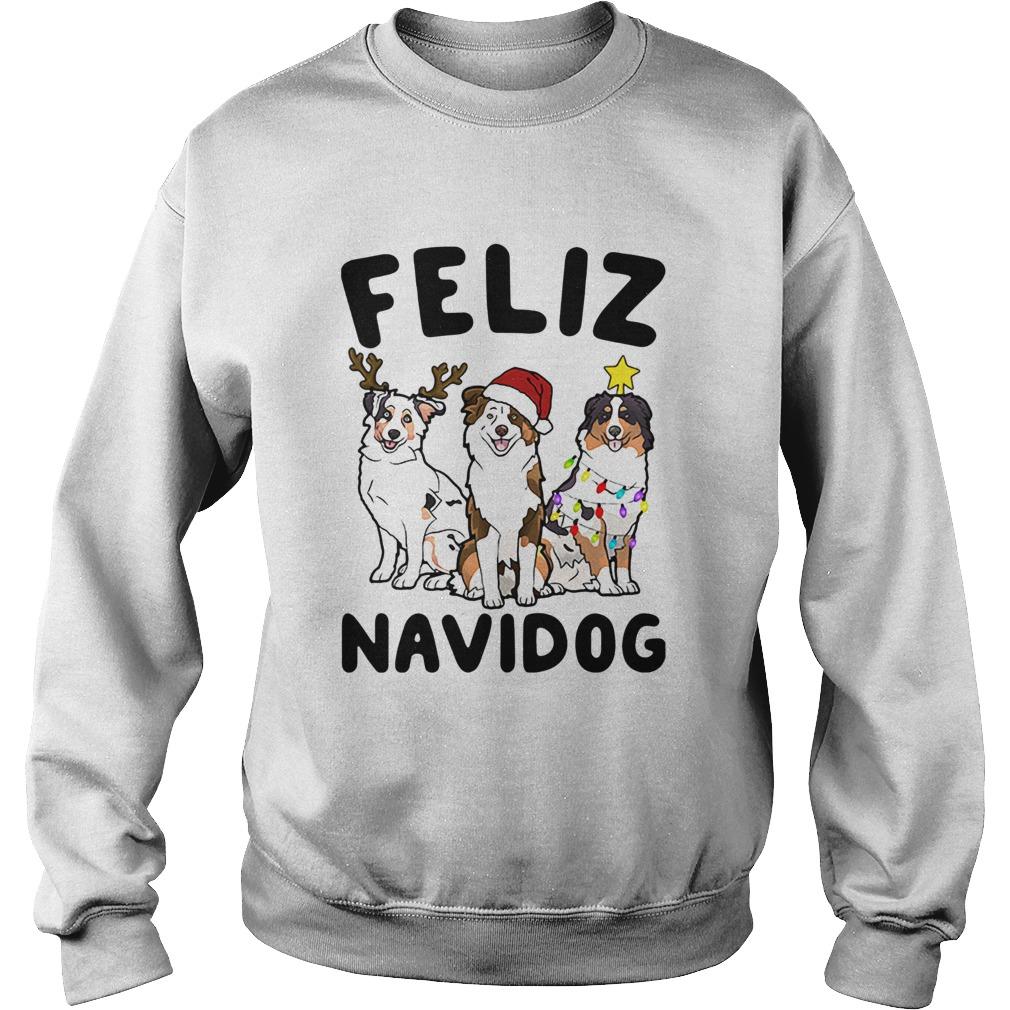 Australian Shepherd Feliz Navidog  Sweatshirt