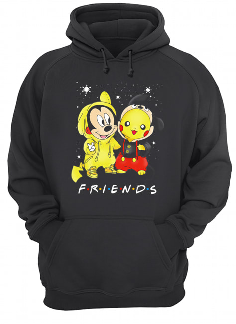 Baby Mickey Mouse And Pikachu Friends Christmas  Unisex Hoodie
