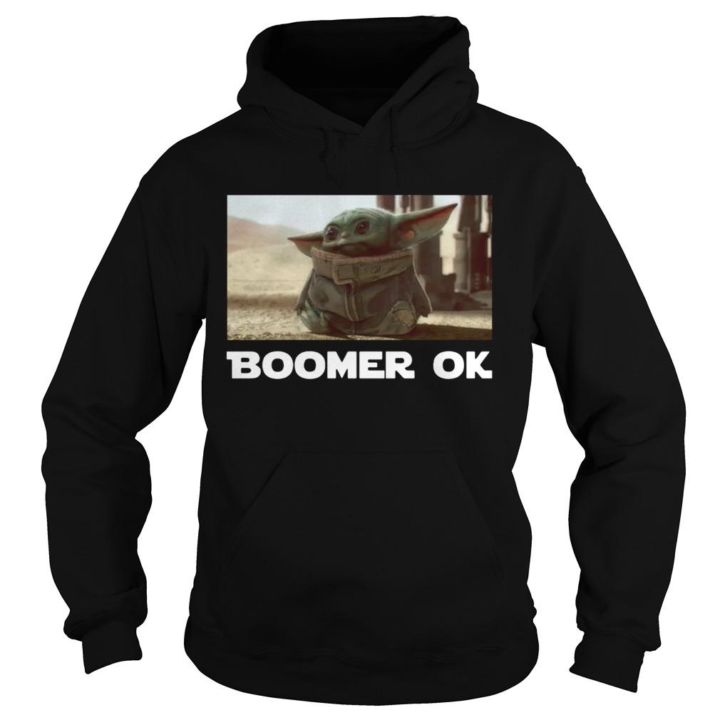 Baby Yoda Boomer Ok  Hoodie