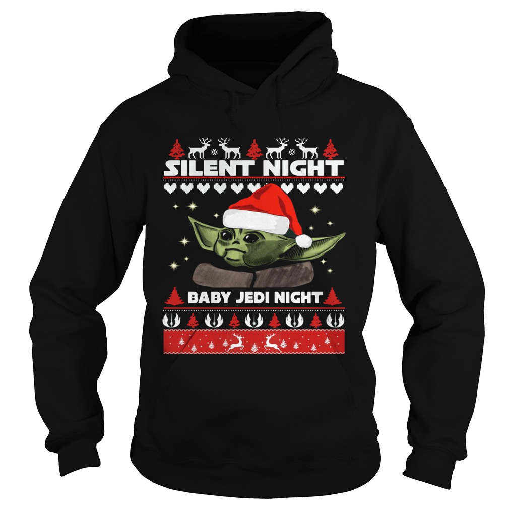 Baby Yoda Silent Night baby Jedi Knight ugly christmas  Hoodie