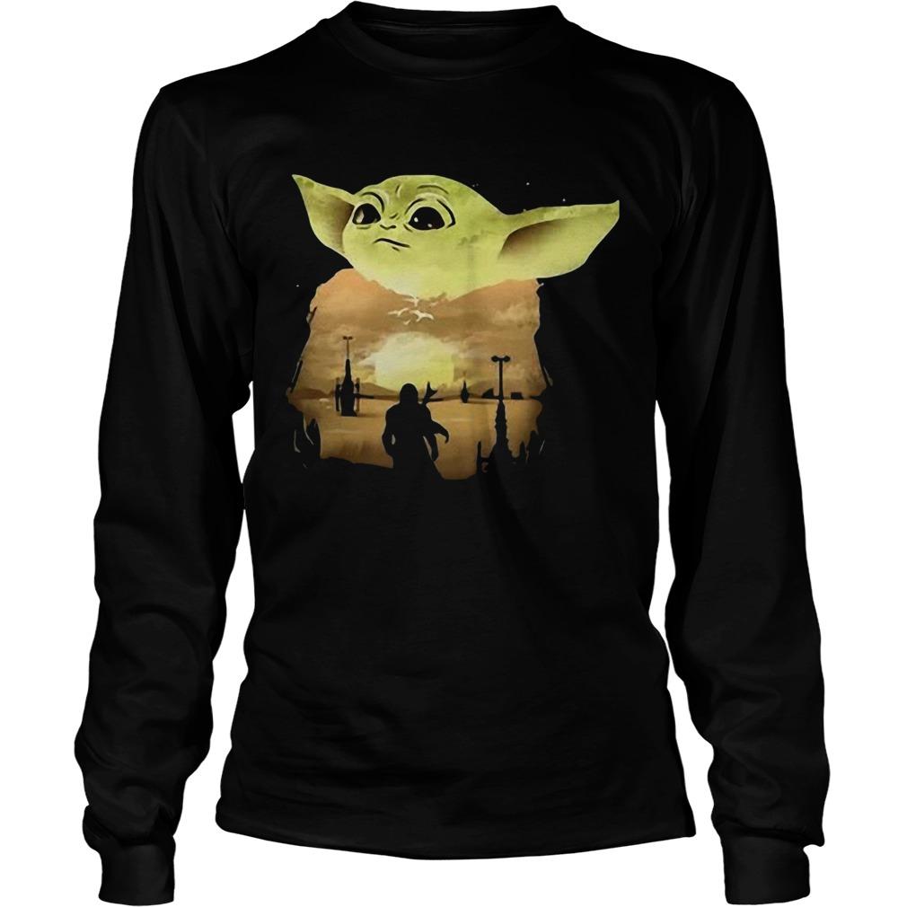 Baby Yoda Sunset  LongSleeve