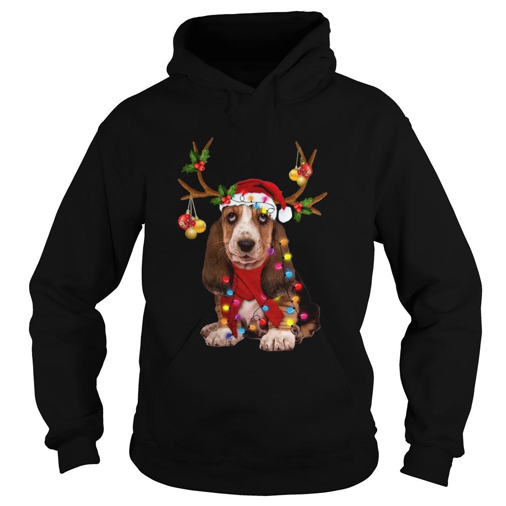 Basset Hound Gorgeous Reindeer  Hoodie