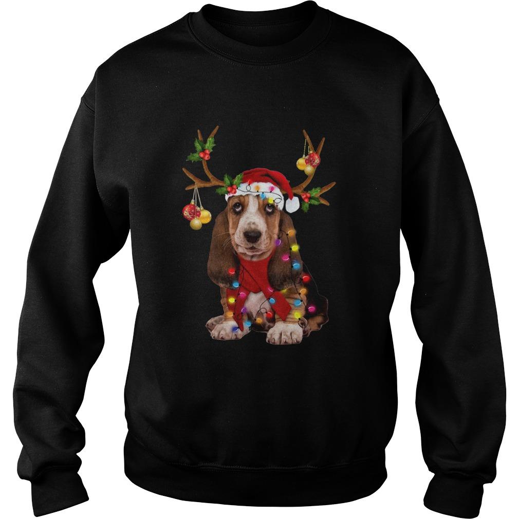 Basset Hound Gorgeous Reindeer  Sweatshirt