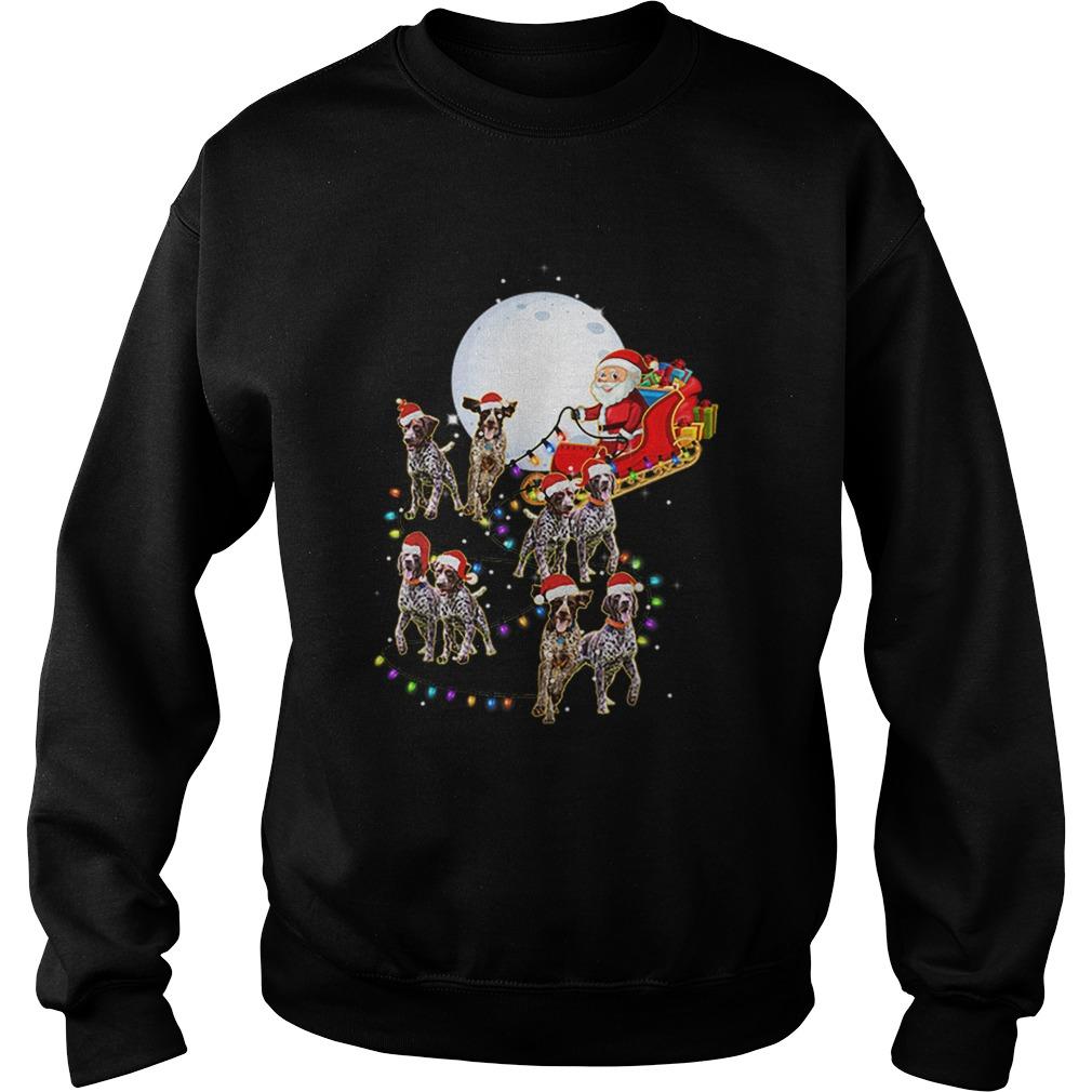 Beautiful German Shorthaired Pointer Christmas Reindeer Lights Gifts  Sweatshirt