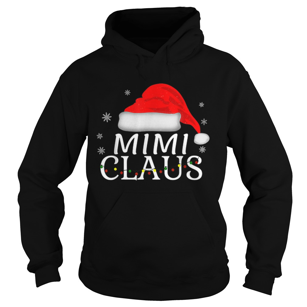 Beautiful Mimi Claus Funny Christmas Pajamas Matching Grandmother Gift  Hoodie
