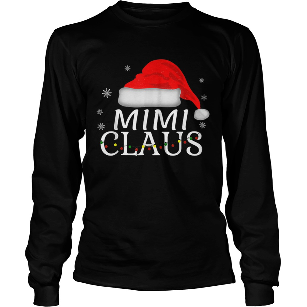 Beautiful Mimi Claus Funny Christmas Pajamas Matching Grandmother Gift  LongSleeve