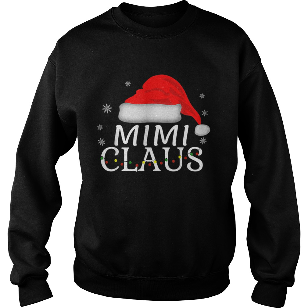 Beautiful Mimi Claus Funny Christmas Pajamas Matching Grandmother Gift  Sweatshirt