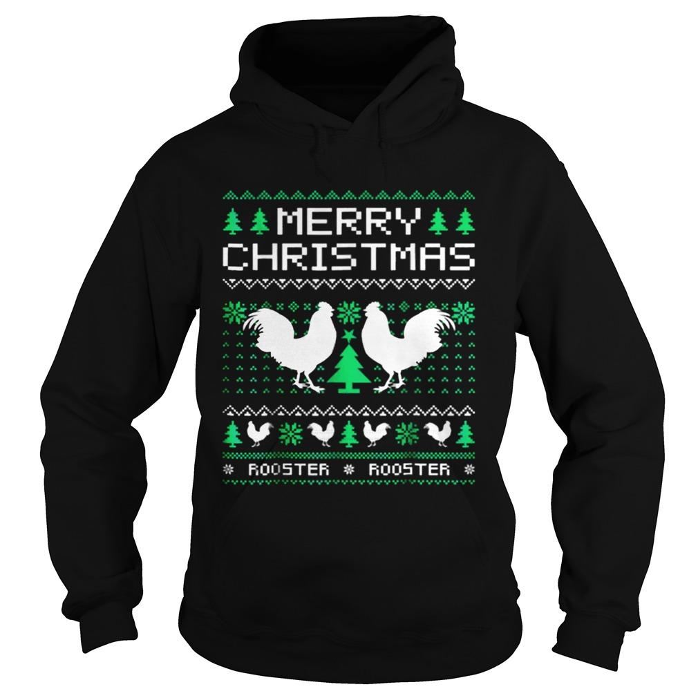 Beautiful Rooster Ugly Christmas Hoodie