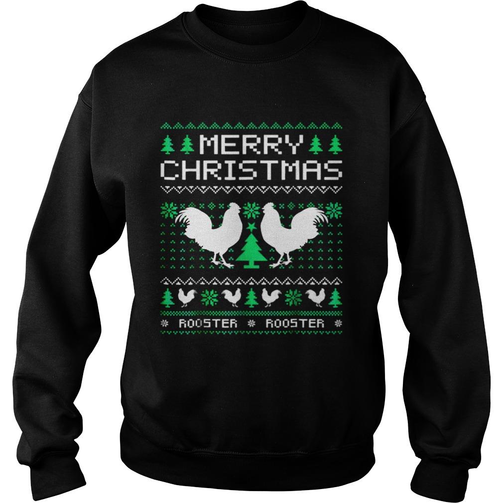Beautiful Rooster Ugly Christmas Sweatshirt