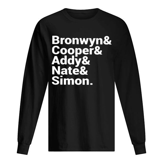 Bronwyn Cooper Addy Nate Simon  Long Sleeved T-shirt