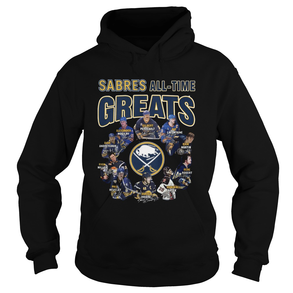 Buffalo Sabres Alltime Greats Players Signatures  Hoodie