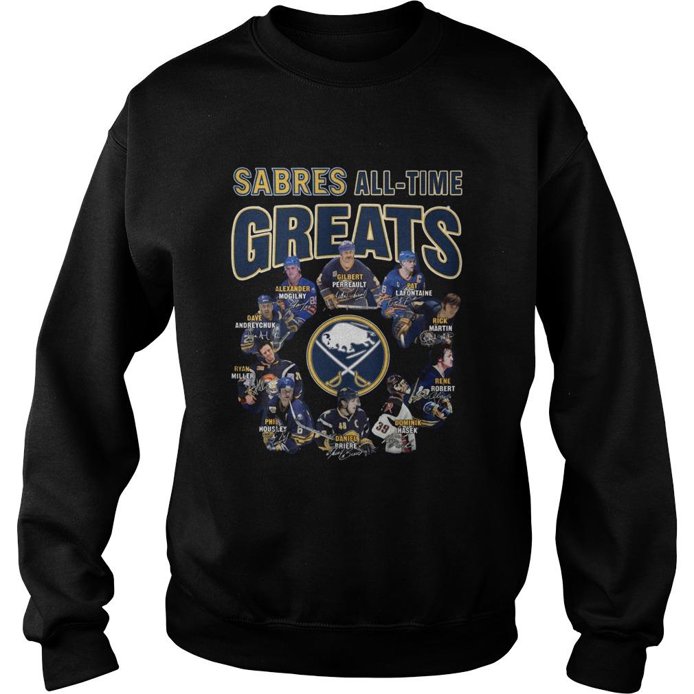 Buffalo Sabres Alltime Greats Players Signatures  Sweatshirt