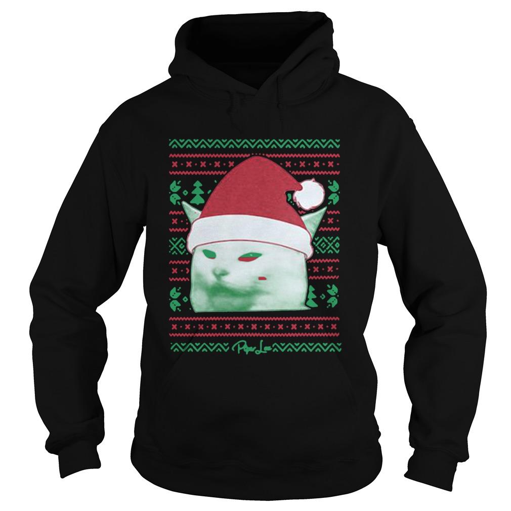 Cat being yelled at Christmas  Hoodie