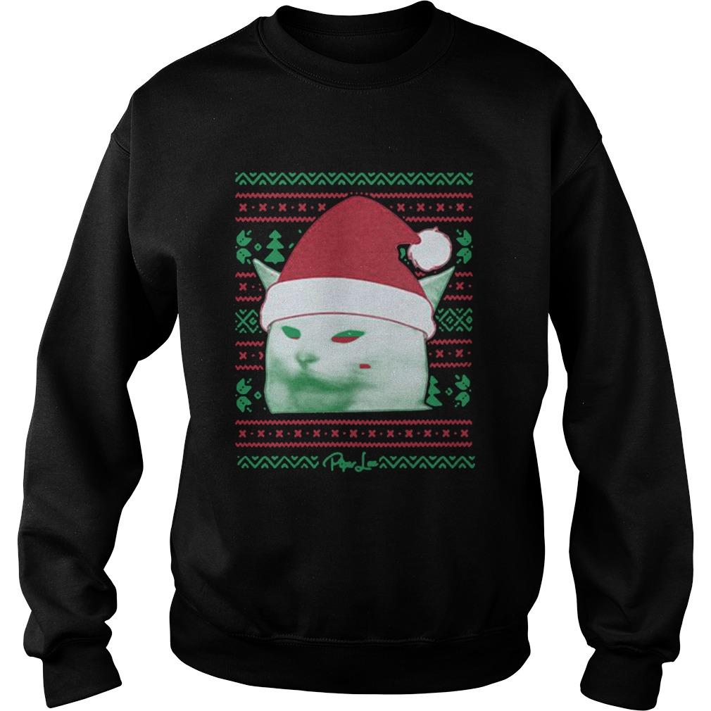 Cat being yelled at Christmas  Sweatshirt