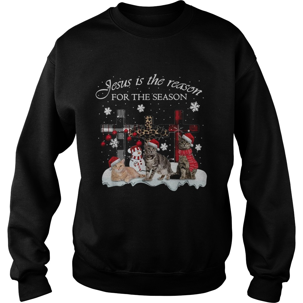 Cats Jesus is the reason for the season Christmas  Sweatshirt