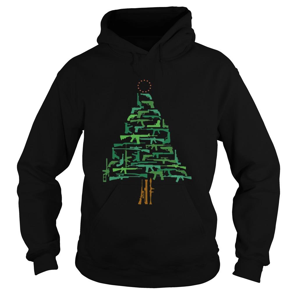 Christmas Tree Green Gun  Hoodie