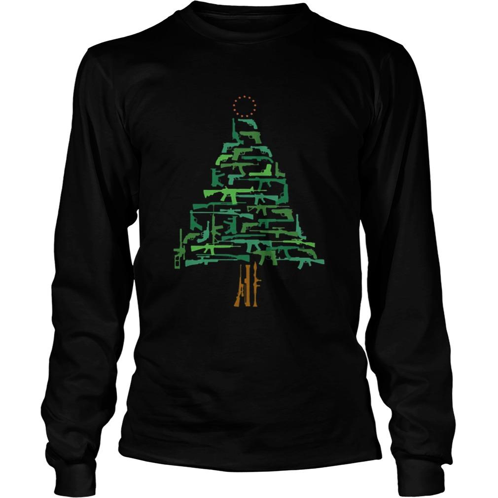 Christmas Tree Green Gun  LongSleeve