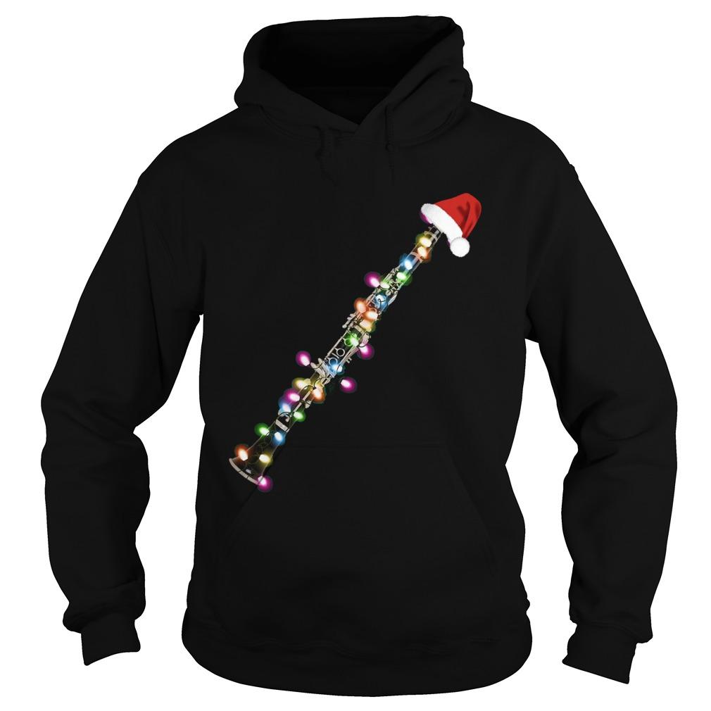 Clarinet Santa Christmas  Hoodie