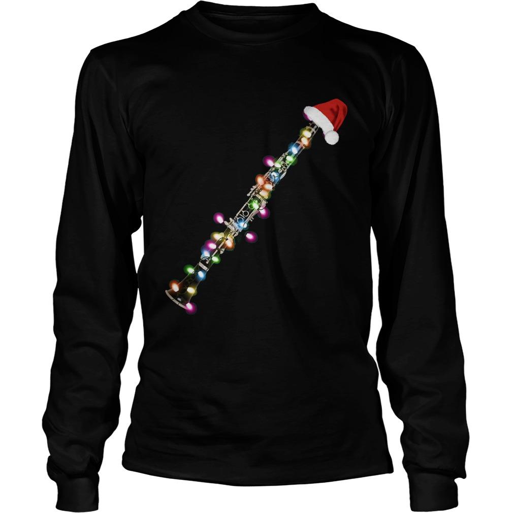 Clarinet Santa Christmas  LongSleeve