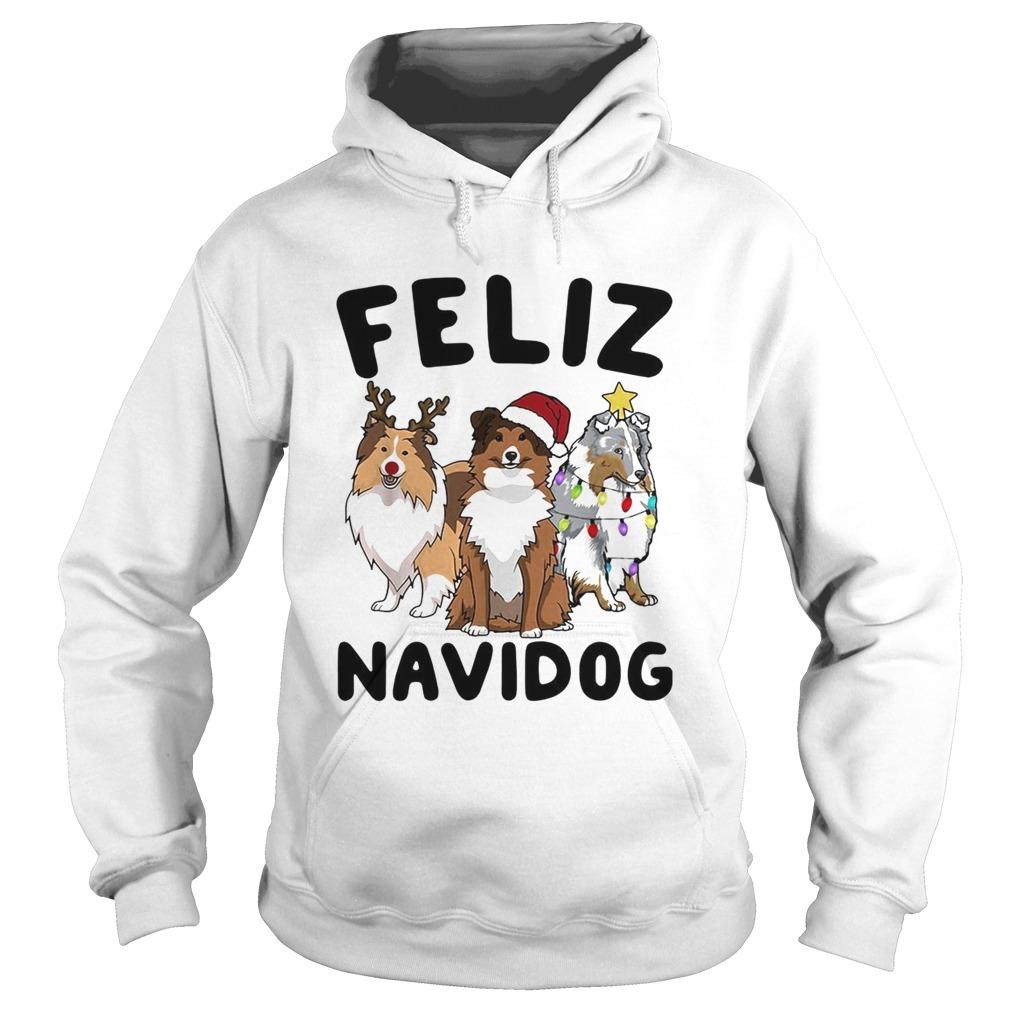 Collie Feliz navidog Christmas  Hoodie