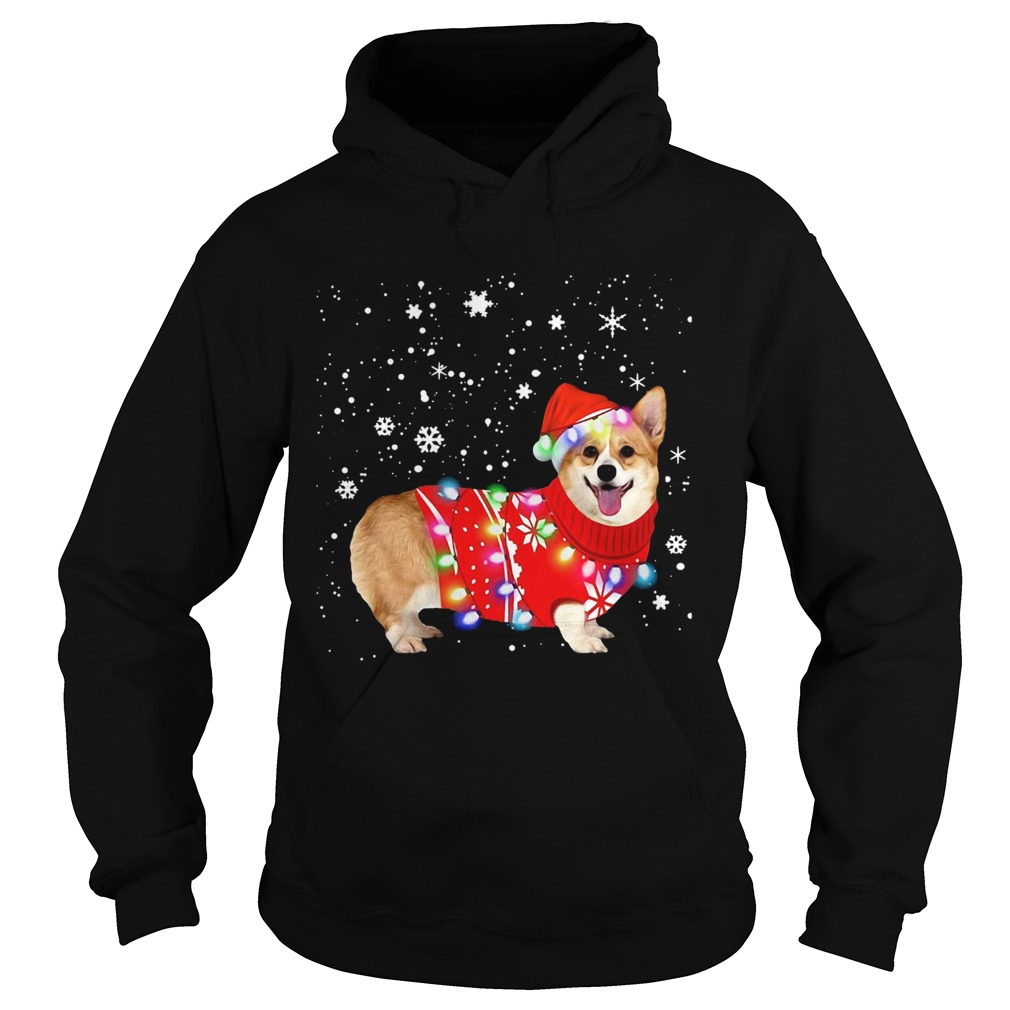 Corgi lovely christmas light Crewneck  Hoodie