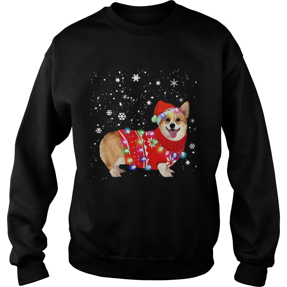 Corgi lovely christmas light Crewneck  Sweatshirt