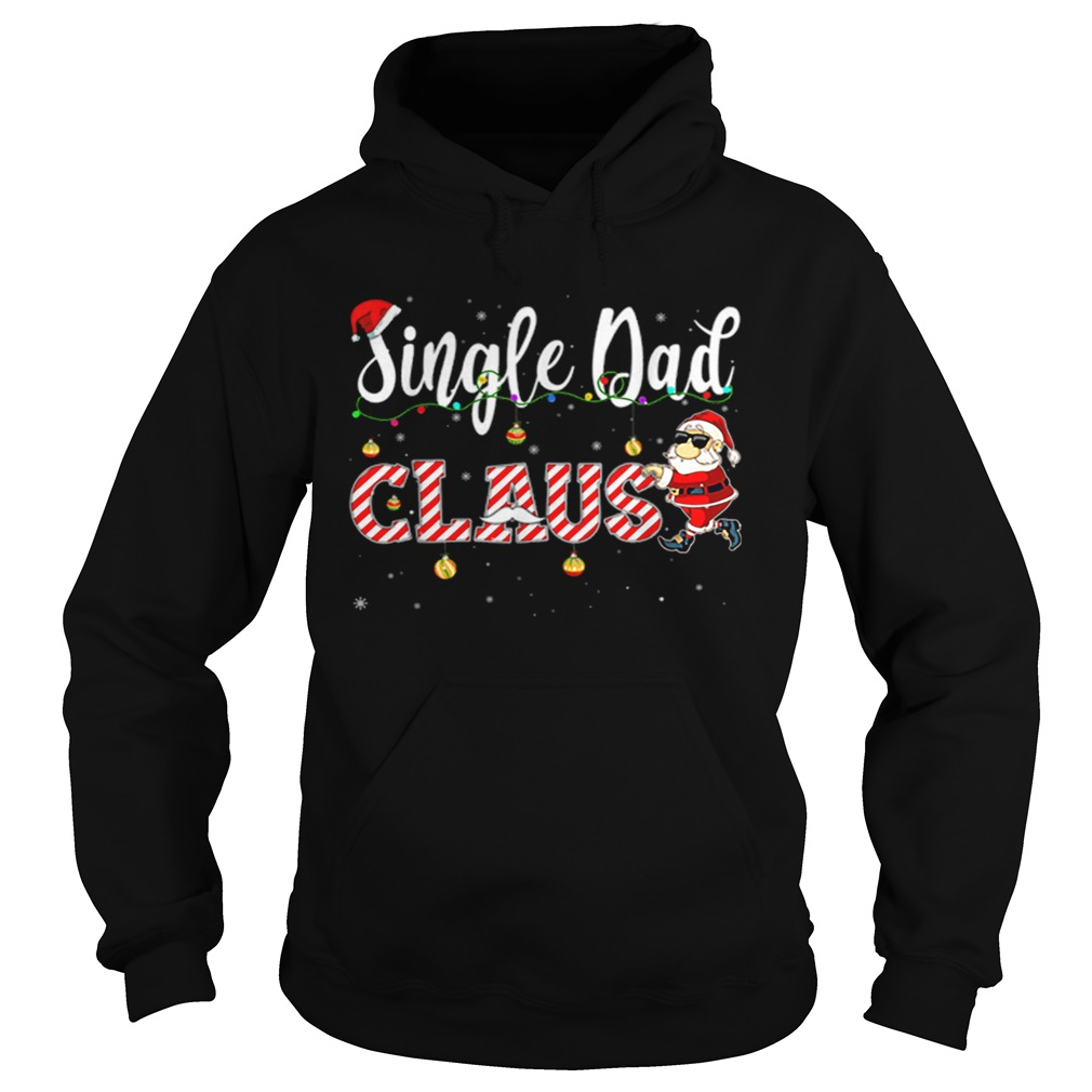 Cute Christmas Single Dad Santa Hat Gift Matching Family  Hoodie