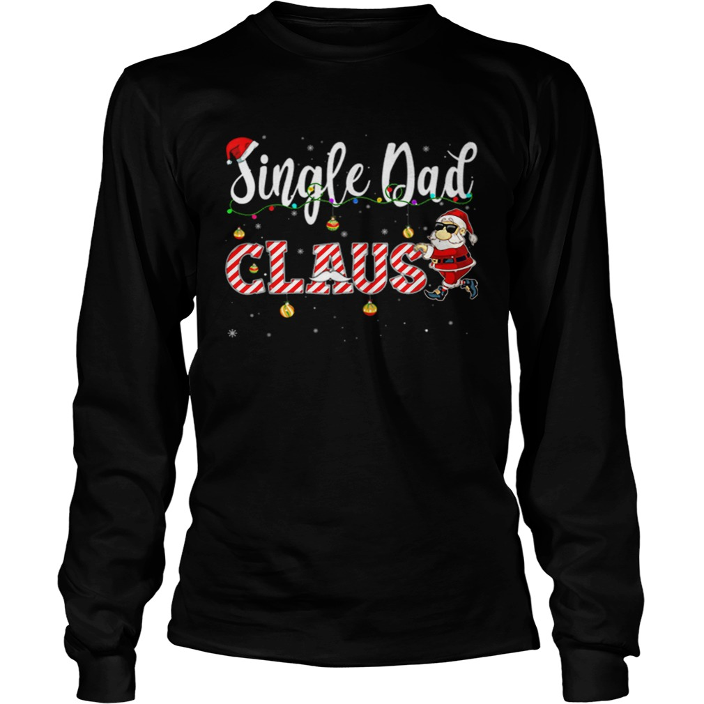 Cute Christmas Single Dad Santa Hat Gift Matching Family  LongSleeve