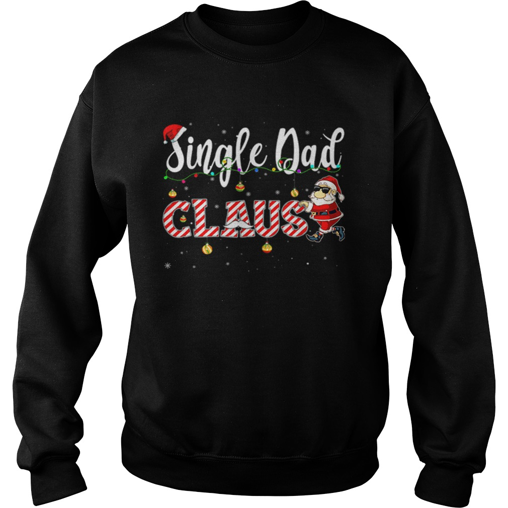 Cute Christmas Single Dad Santa Hat Gift Matching Family  Sweatshirt