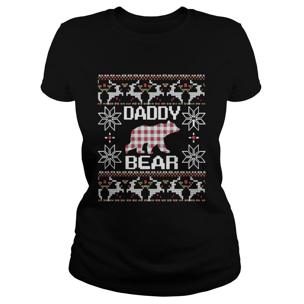 Daddy Bear Matching Family Season Ugly Christmas  Classic Ladies