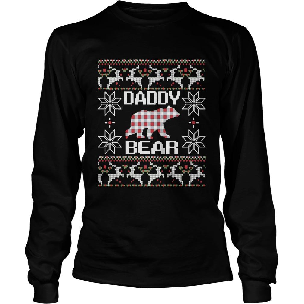 Daddy Bear Matching Family Season Ugly Christmas  LongSleeve
