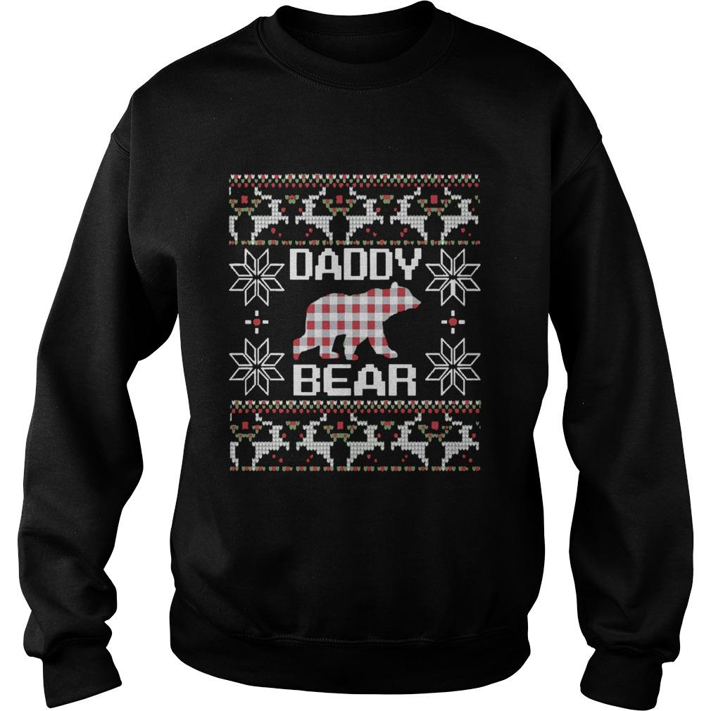 Daddy Bear Matching Family Season Ugly Christmas  Sweatshirt