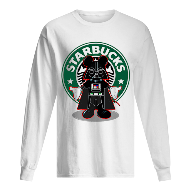 Darth vader Mickey Starbucks  Long Sleeved T-shirt