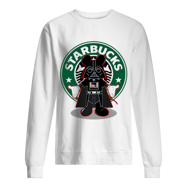 Darth vader Mickey Starbucks  Unisex Sweatshirt