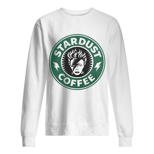 David Bowie Stardust coffee Starbucks  Unisex Sweatshirt