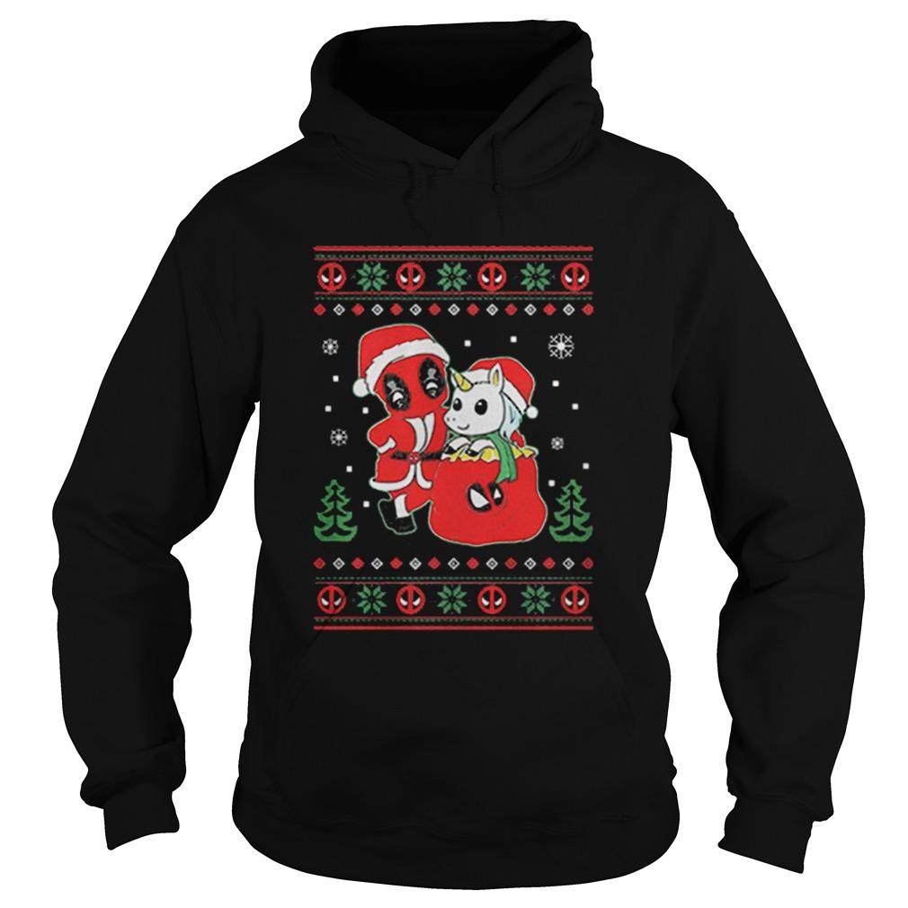 Deadpool unicorn ugly Christmas  Hoodie