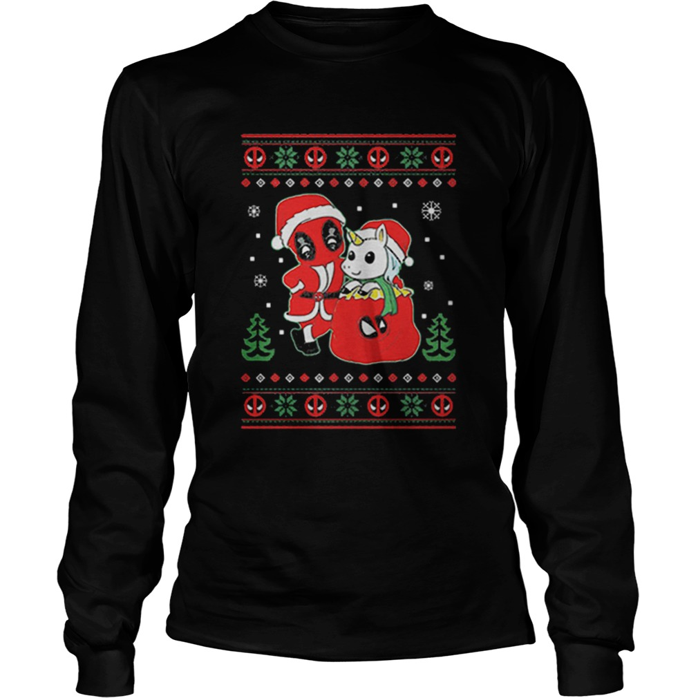 Deadpool unicorn ugly Christmas  LongSleeve