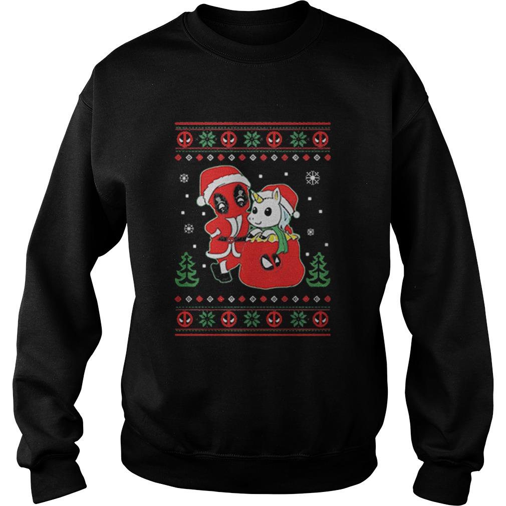 Deadpool unicorn ugly Christmas  Sweatshirt