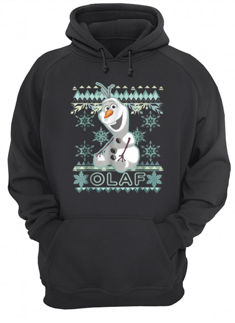 Disney Frozen Olaf Ugly Christmas Sweater Graphic  Unisex Hoodie