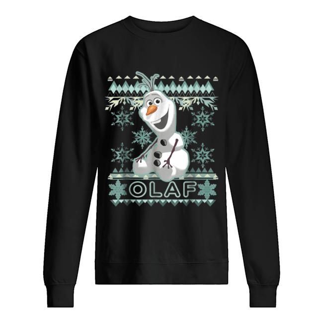 Disney Frozen Olaf Ugly Christmas Sweater Graphic  Unisex Sweatshirt