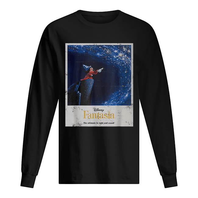 Disney Mickey Mouse Fantasia The Ultimate In Sight And Sound  Long Sleeved T-shirt