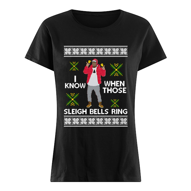 Drake I Know When Those Sleigh Bells Ring ugly christmas  Classic Women's T-shirt