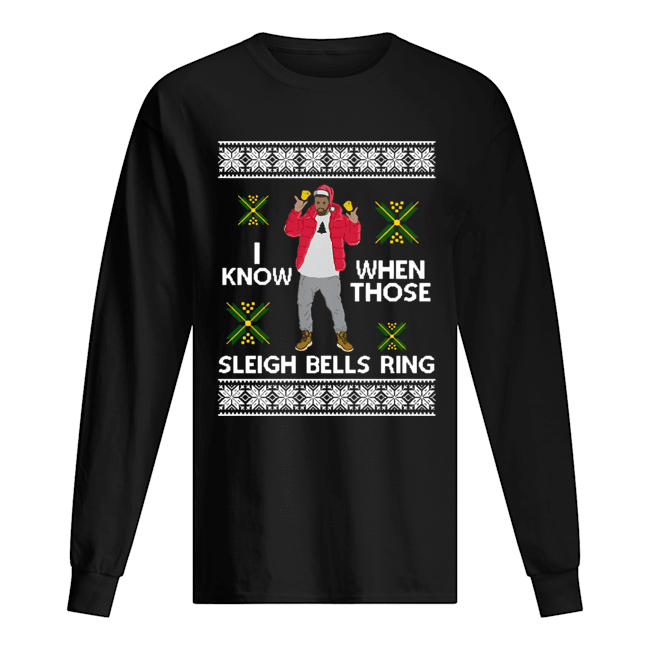 Drake I Know When Those Sleigh Bells Ring ugly christmas  Long Sleeved T-shirt