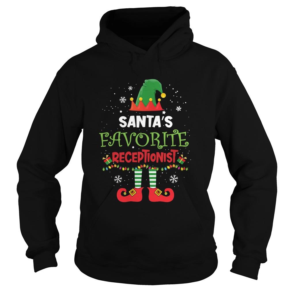 Elf Santas Favorite Receptionist  Hoodie