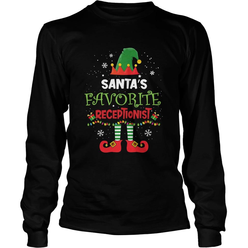 Elf Santas Favorite Receptionist  LongSleeve